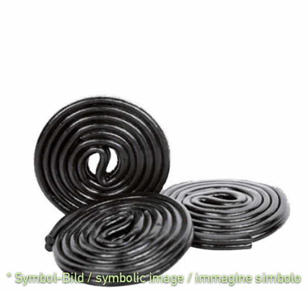 Lakritze Black Snake / liquirizia - Dose 3 kg - Klassische Eispasten