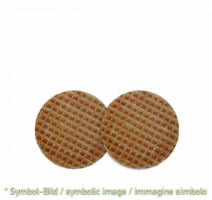 Nr.10 crispy round waffles, 6 cm - box 1.000 pieces - Waffles Decor