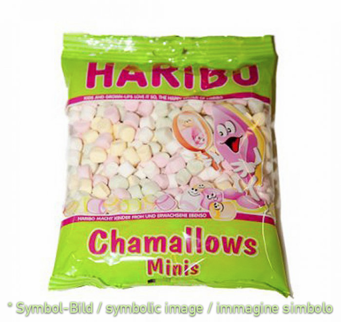 chamallows haribo - box 0,2 kg - childrens ice-cream paste
