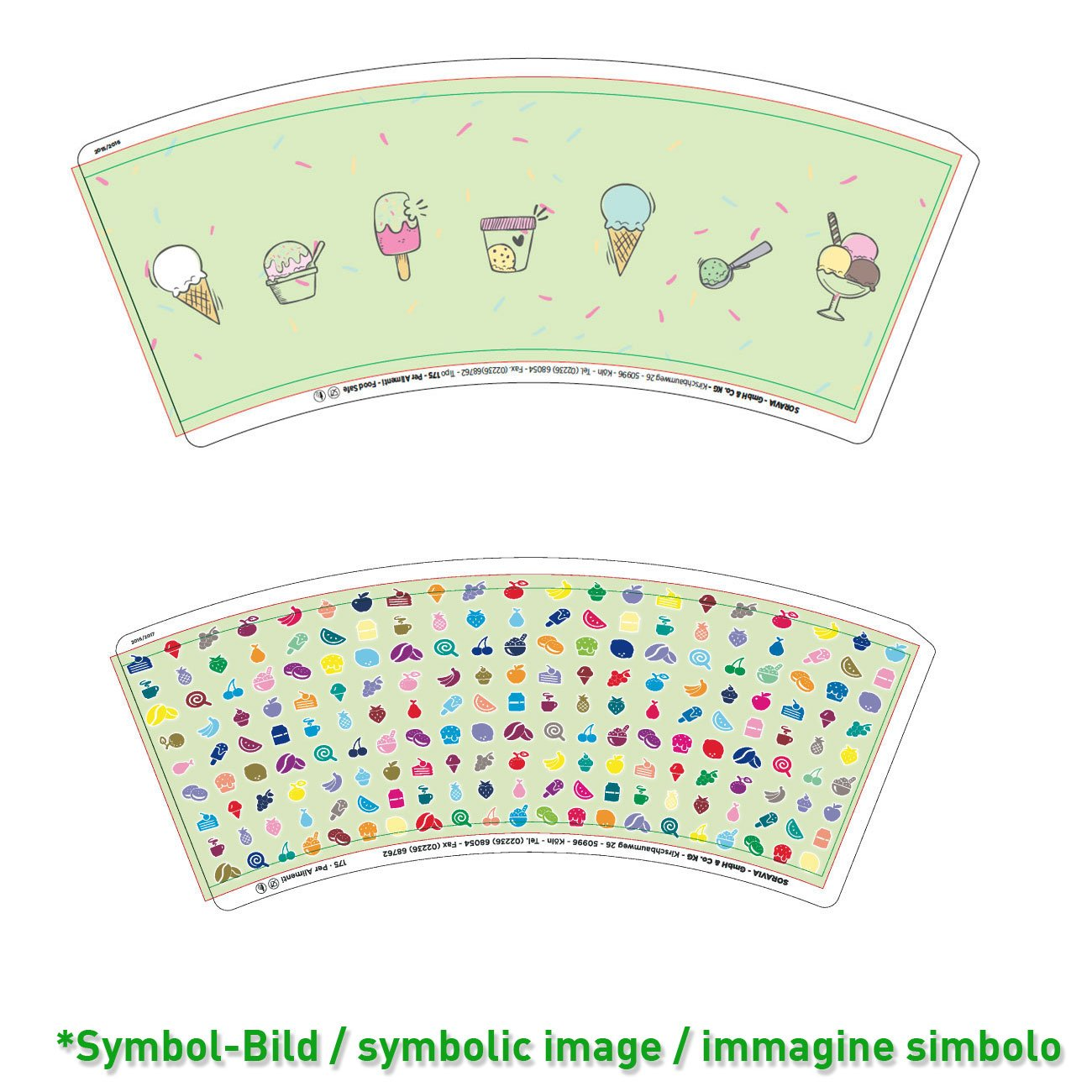 Ice cream cup / Tipo 175 - box 1.748 pieces - Ice cup paper