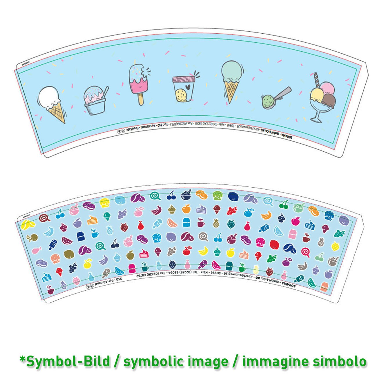 Ice cream cup / Tipo 350 - box 1.200 pieces - Ice cup paper