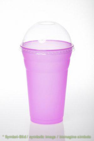 milk shake cup & lid / 350 ccm - box 600 pieces - Plastic drinking cup - milk shake cup & lid / coppette da frappè & coperchi