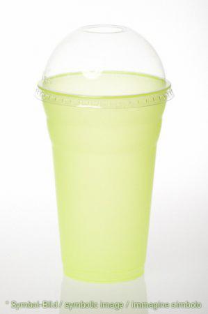 milk shake cup & lid / 500 ccm - box 500 pieces - Plastic drinking cup - milk shake cup & lid / coppette da frappè & coperchi