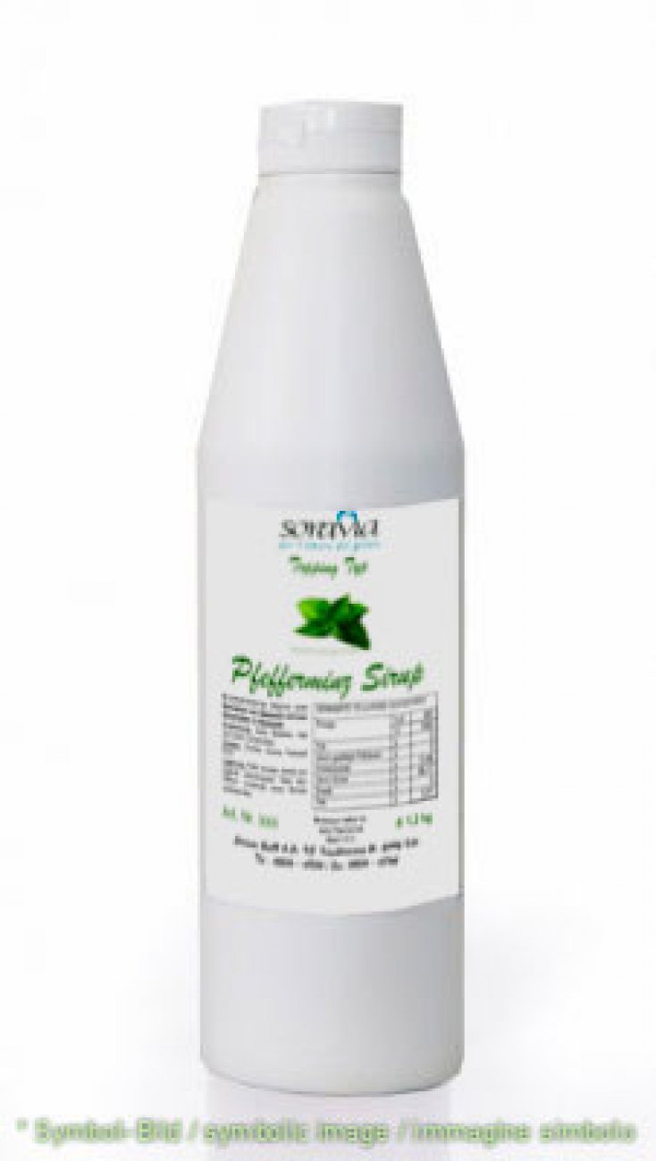 peppermint sirup / sciroppo di menta - bottle 1,20 kg - Sirup