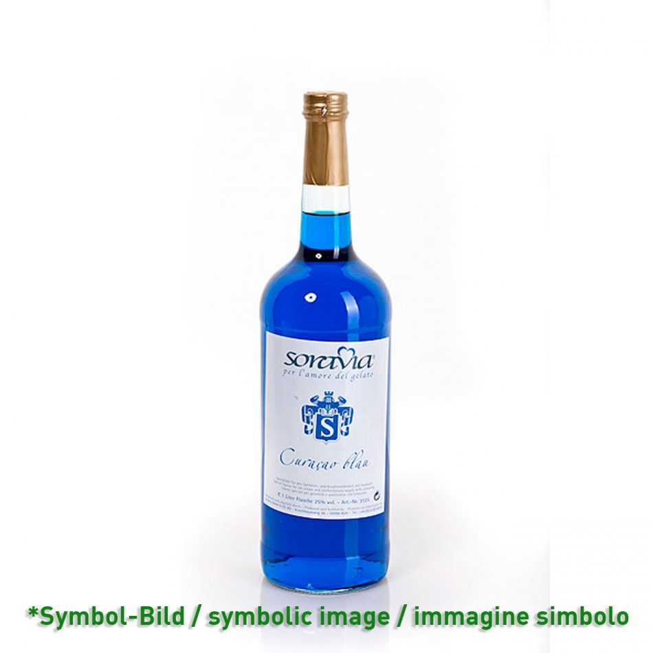 Curacao blau 25Vol%  - Flasche 1 Liter - Likör Eisliköre