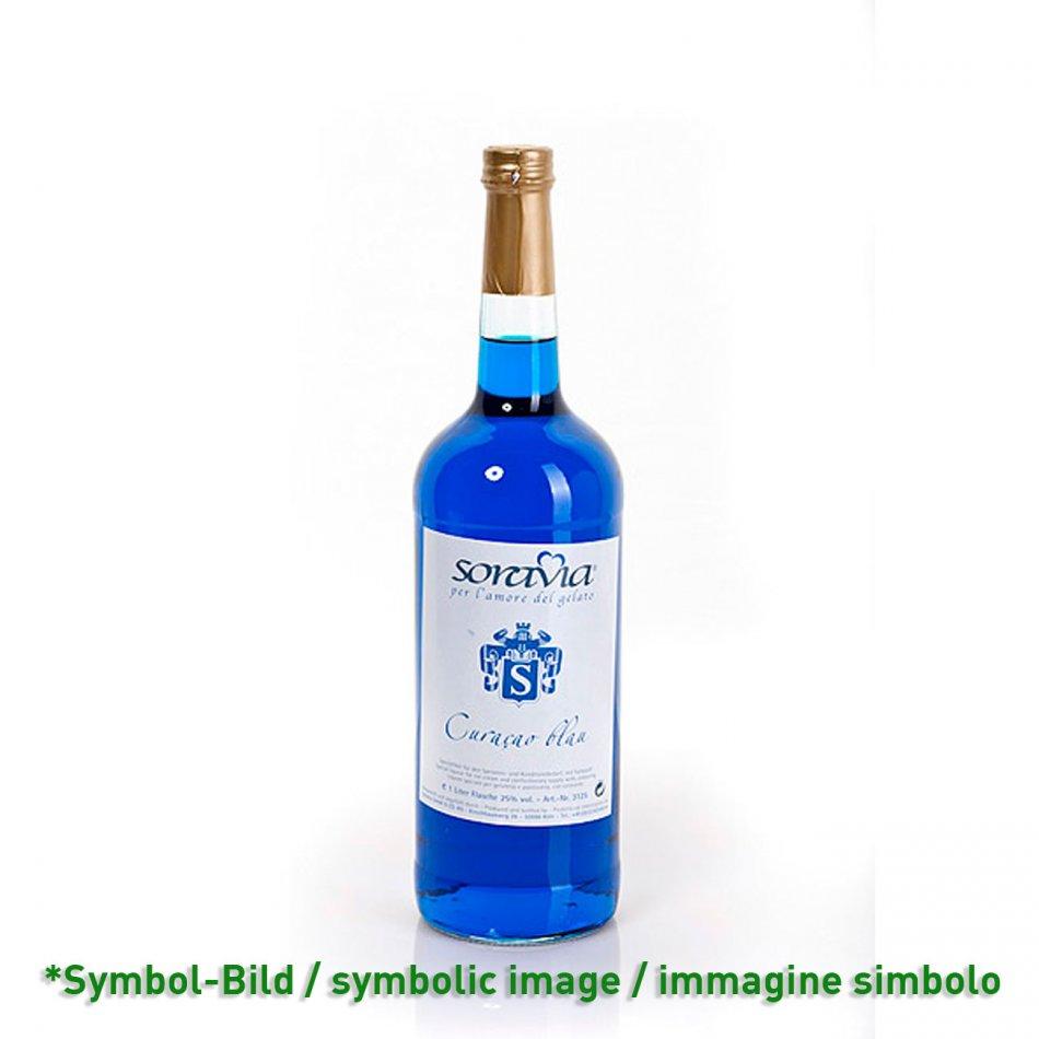 curacao blue 25Vol% / curacao blu - bottle 1 Liter
