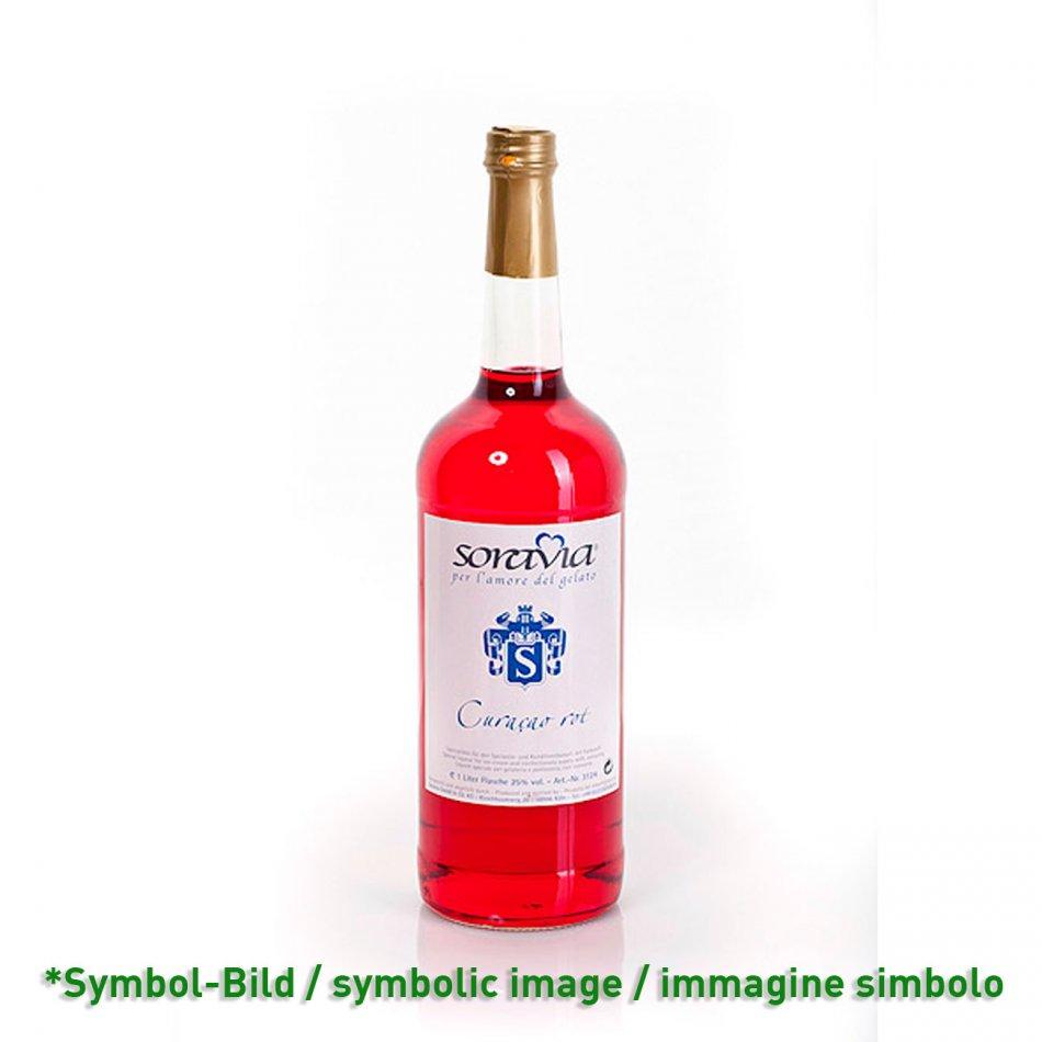 Curacao rot 28Vol% - Flasche 1 Liter - Likör Eisliköre