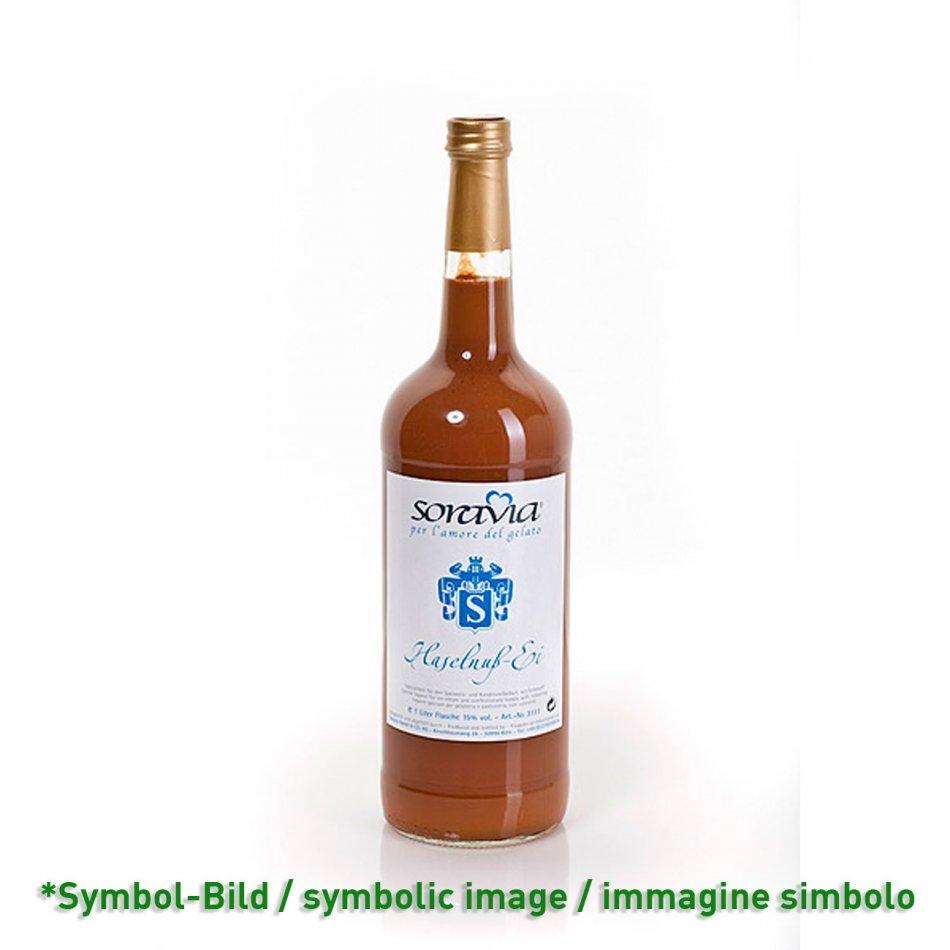 Haselnuss Ei 14Vol% - Flasche 1 Liter - Likör Eisliköre