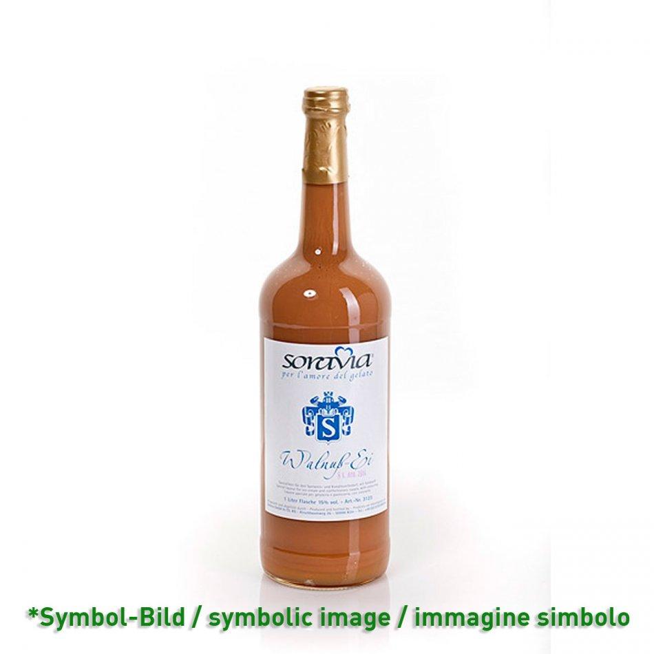 Walnuss Ei 14Vol% - Flasche 1 Liter - Likör Eisliköre