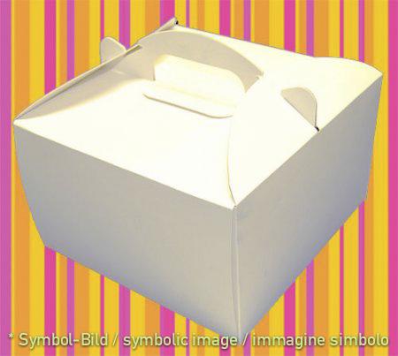 to go box, Pappe weiss - Karton 50 Stück