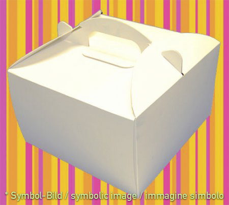 to go box, white - Space for 4 cups - box 50 pieces