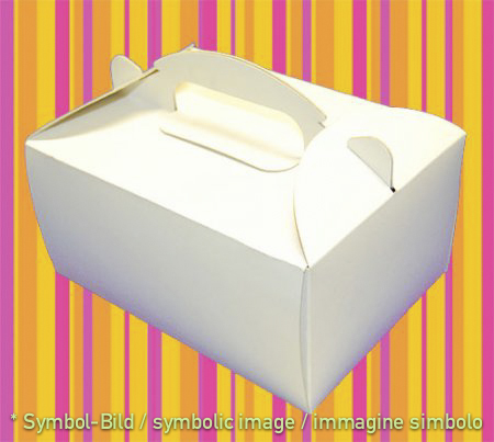 to go box, white - Space for 6 cups - box 50 pieces