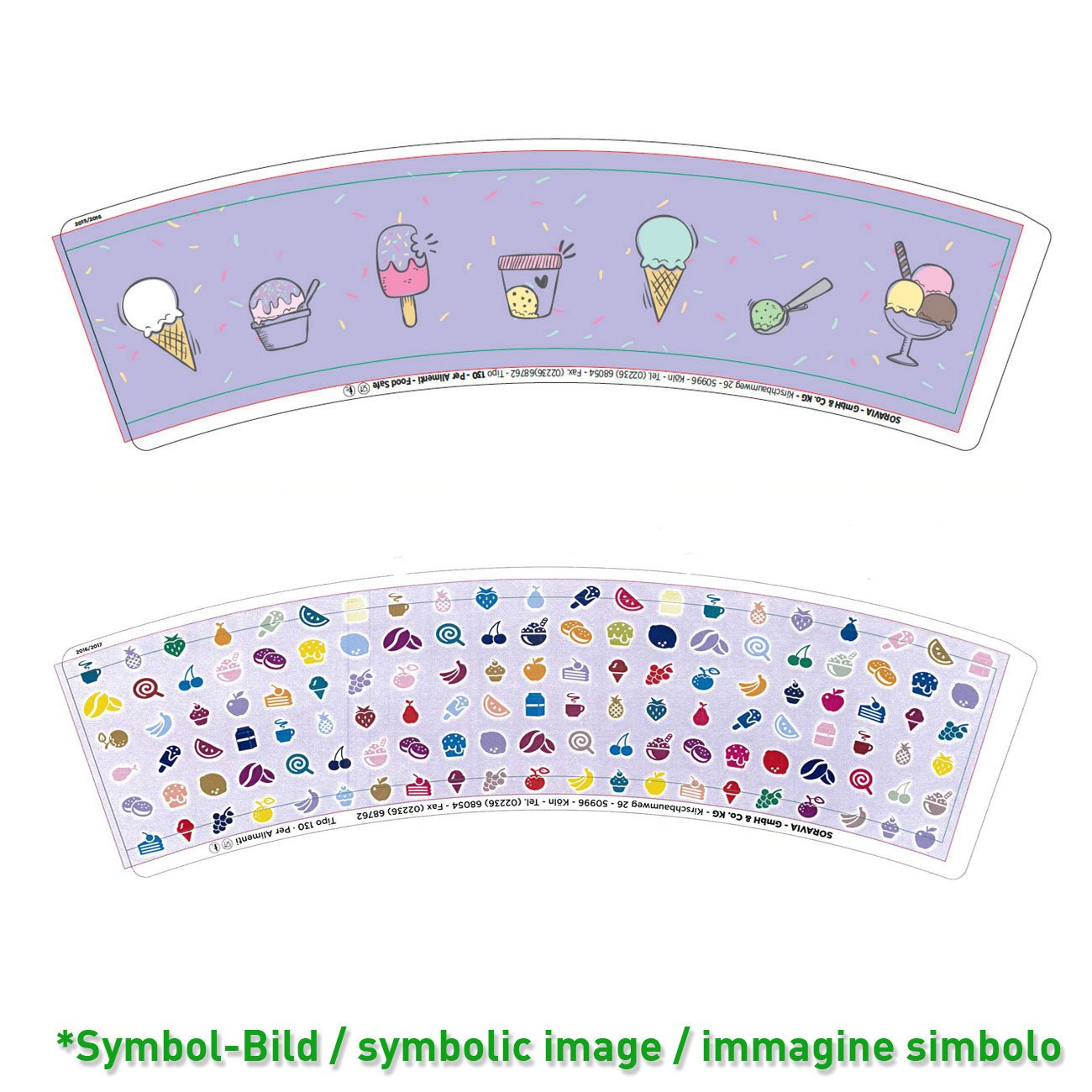 ice cream cup / tipo 130 - box  2.010 pieces - Ice cup paper