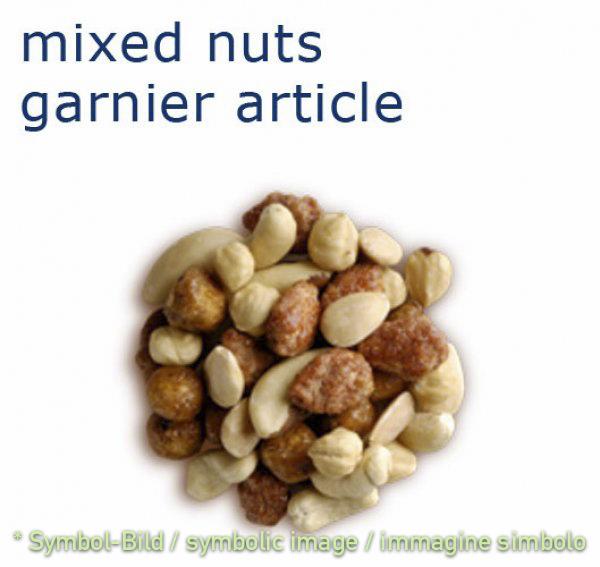 variation of almonds and nuts / variazione di mandorle e noce - bag 1 kg - Ice cream decoration garnish