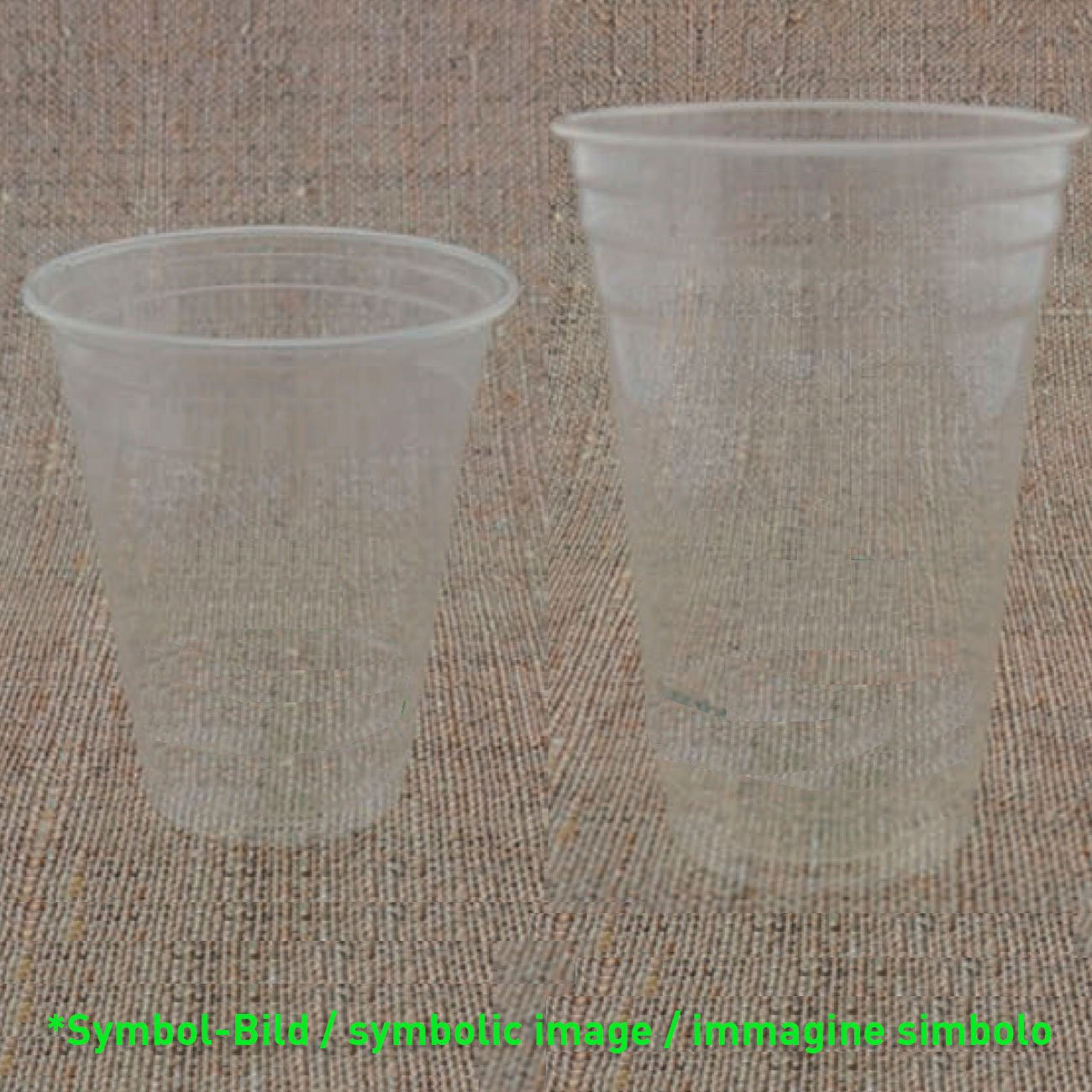 Bio clear cup PLA 300 - 350 ccm - box 1.000 pieces - Plastic drinking cup Clear Cup PLA