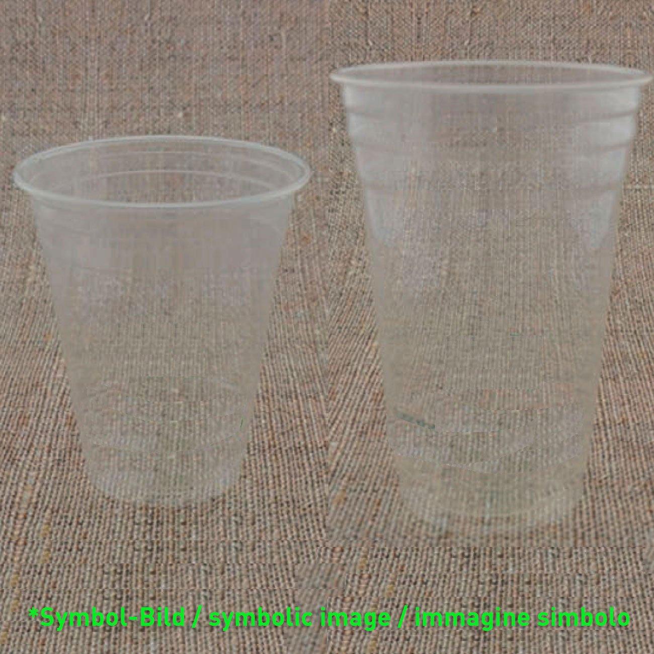 piecbiodegradable clear cup PLA 300 - 350 ccm - box 1.000 pieces