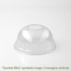 clear cup  lid universal box 500 pieces - Plastic drinking cup - coperchio bombato universale per clear cup