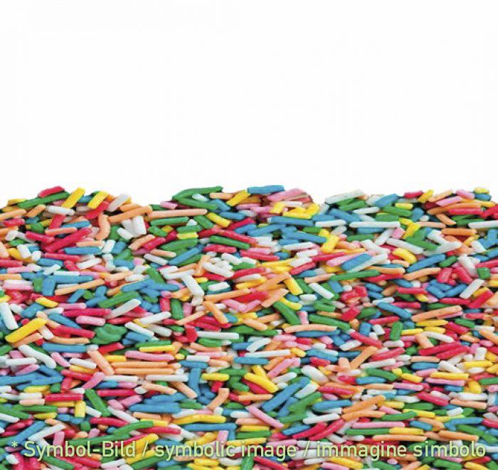 Zuckerstreusel bunt - Beutel 1 kg - Eisbecher Dekor Garnier Artikel