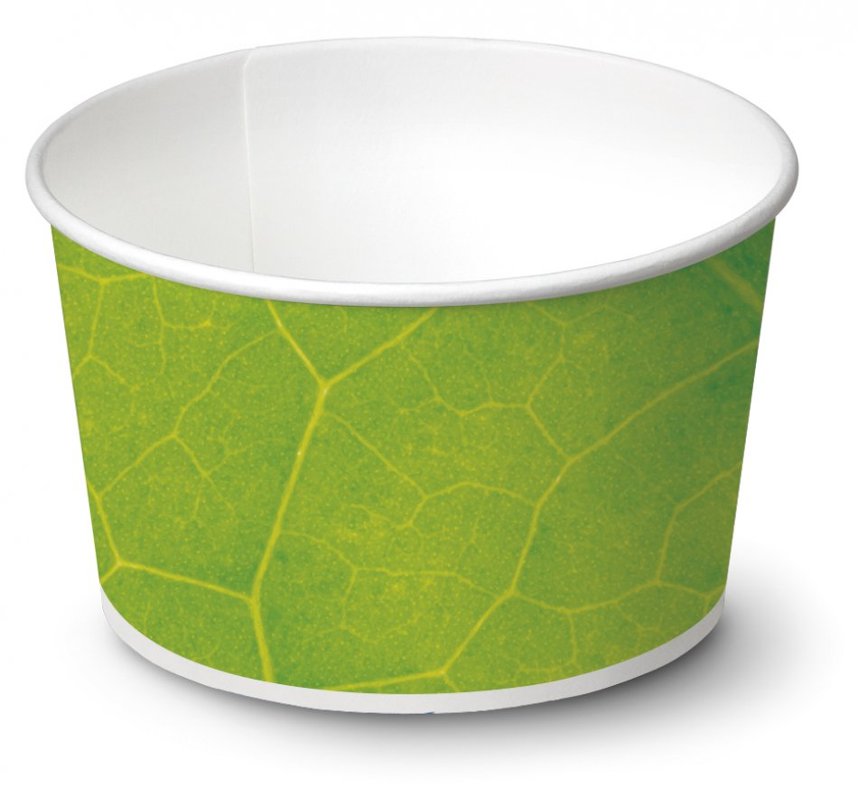 biodegradable Ice cream cup / Typ 350 / 1200 pieces - Ice cup biodegradable paper