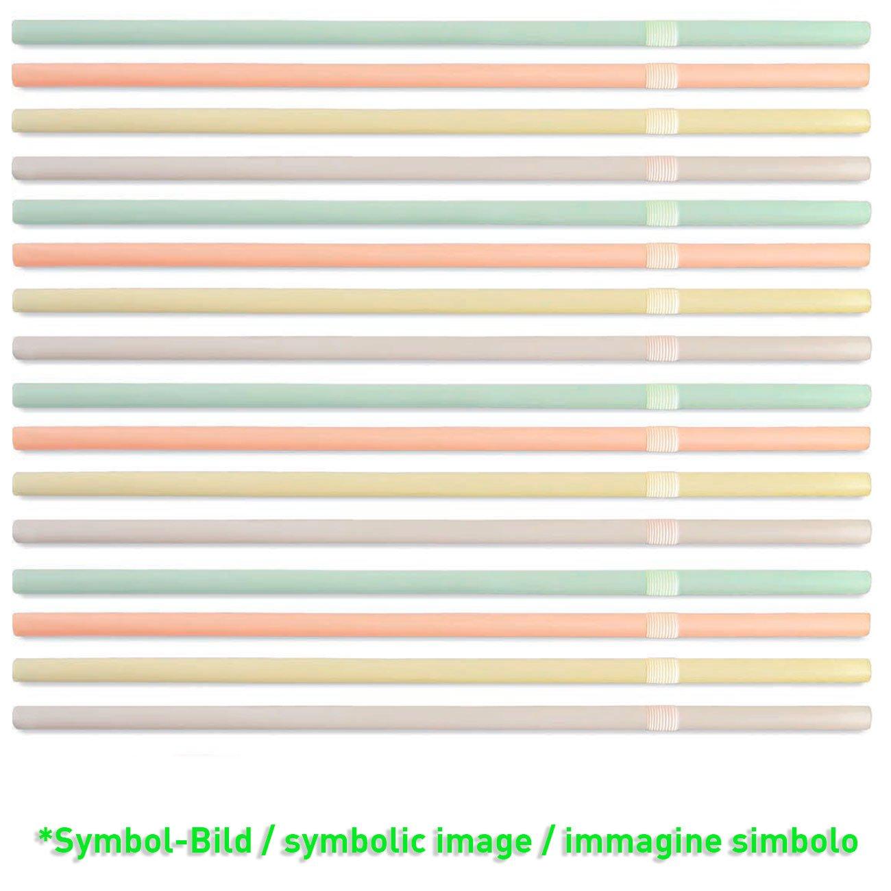 biodegradable Straws - 20,60 cm / 6cm - paket = 500 pieces